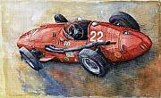 Classic Car Paintings - Maserati 250 F 1957  by Yuriy  Shevchuk