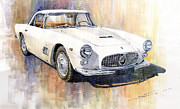 Car Painting Framed Prints - Maserati 3500GT Coupe Framed Print by Yuriy  Shevchuk