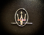 Nikon D90 Prints - Maserati Logo Print by Ronda Broatch