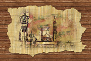 Muslims Of The World Paintings - Masjid e Nabwi Sketch by Catf