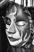 Downtown Digital Art Originals - Mask Leftside by Michael Thomas