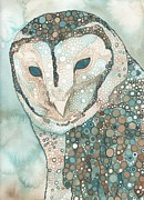 Snowy Painting Originals - Masked Owl by Tamara Phillips