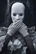 Surrealism Photo Metal Prints - Masked Woman Metal Print by Joana Kruse