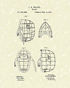 Sports Art Drawings Posters - Masks 1878 Patent Art Poster by Prior Art Design