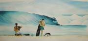 Illustration Painting Originals - Masonboro Surf by William Love