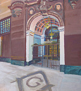 Freemasons Paintings - Masonic Temple Gate by Vanessa Hadady BFA MA