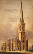 Masonry Church Circa 1850 Print by Aged Pixel