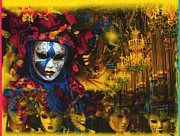 Mardi Gras Paintings - Masquerade 2 by Anthony Whelihan