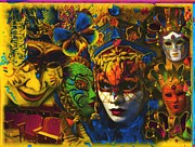 Mardi Gras Paintings - Masquerade #7 by Anthony Whelihan