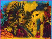 Mardi Gras Paintings - Masquerade by Anthony Whelihan