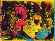 Mardi Gras Paintings - Masquerade Series by Anthony Whelihan
