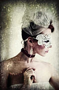 Spoken Framed Prints - Masquerade Framed Print by Spokenin RED