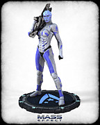 Mass Effect Metal Prints - Mass Effect - Asari Alliance Soldier Metal Print by Frederico Borges