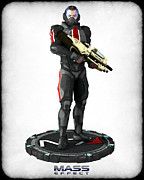 Mass Effect Prints - Mass Effect - N7 Soldier Print by Frederico Borges