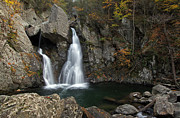 Autumn Photographs Framed Prints - Massachusetts Bash Bish Waterfall Framed Print by Juergen Roth