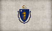Massachusetts State Flag Print by Pixel Chimp