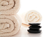 Towels Prints - Massage Ready Print by Olivier Le Queinec