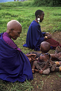 Mamma Metal Prints - Massai Women And Child - Tanzania Metal Print by Craig Lovell