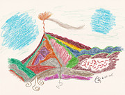 Mountain Valley Drawings - Massanutten by Mark David Gerson