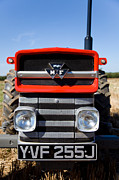 Paul Lilley Metal Prints - Massey Ferguson 135 vintage tractor Metal Print by Paul Lilley