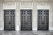 Neo-classical Metal Prints - Massive Doors Metal Print by Olivier Le Queinec