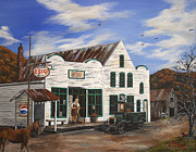 Model T Ford Paintings - Mast General Store by Julia Robinson
