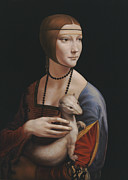 Medieval Paintings - Master copy of da Vinci Lady with an Ermine by Terry Guyer
