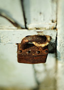 Padlock Framed Prints - Master Lock Framed Print by Rebecca Sherman