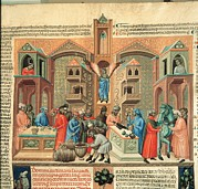 Italian Market Framed Prints - Master Of 1328, Digestum Vetus, 14th Framed Print by Everett