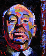 Hitchcock Film Paintings - Master Of Suspense by Debra Hurd