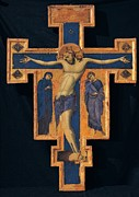 Holy Art Framed Prints - Master Of The Blue Crosses, Crucifix Framed Print by Everett