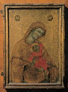 Drapery Prints - Master Of The Perugia Madonna, Madonna Print by Everett