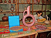 Painter At Work Posters - Master Pottery Painter in Avanos in Cappadocia-Turkey Poster by Ruth Hager