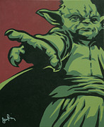 Sith Paintings - Master Yoda by Ian  King
