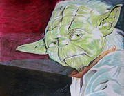 Star Pastels Metal Prints - Master Yoda Metal Print by Jeremy Moore