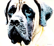 Mastiff Rescue Prints - Mastif Dog Art - Misunderstood Print by Sharon Cummings