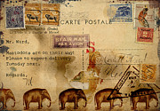 Post Card Prints - Mastodons Are On Their Way Print by Carol Leigh