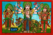 Hindu Goddess Originals - Mata Durga by Ashok Kumar