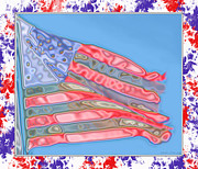 Waving Flag Digital Art - Matalic flag by Debbie Portwood
