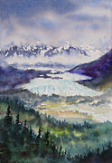 Watercolorist Framed Prints - Matanuska Glacier Framed Print by Karen Mattson