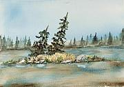 Canada Paintings - Matawa Bay QC I by John W Walker