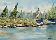 Canada Paintings - Matawa Bay QC II by John W Walker