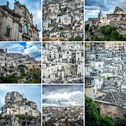 Matera Photos - Matera collage by Sabino Parente