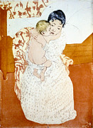 Dry Point Posters - Maternal Caress 1891 Poster by Padre Art