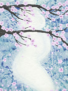 Baby Bump Art - Maternity - Cherry Tree by April Kasper