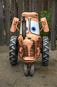 Disney California Adventure Park Posters - Maters Tractor Poster by Ricky Barnard