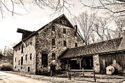 Flourtown Posters - Mather Mill at Fort Washington Pa Poster by Bill Cannon