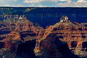 National Mixed Media Posters - Mather Point Grand Canyon Poster by Nadine and Bob Johnston