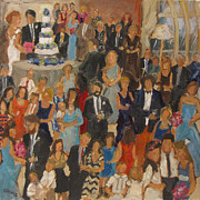 Wedding Reception Paintings - Mathews-Dowdle Wedding by Barbara Davis