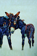 Donkey Foal Painting Framed Prints - Matilda Framed Print by Patricia A Griffin
